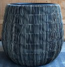 PT11a-Resin Wicker Planter, Short