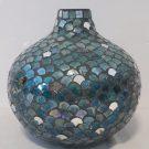 Vase, Blue & Mirror, Fishscale–Acc107c