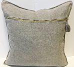 TC90bb-Grey Linen, gold zipper & tassle