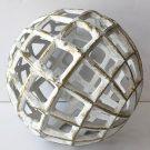 Decorative Sphere, White Metal-Acc1446