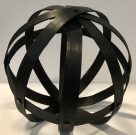 Decorative Sphere, Black Wood-Acc605a