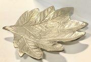 Bowl/Platter, Silver Leaf-Acc020e