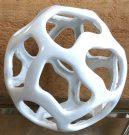 Decorative Sphere, White Resin-Acc1449