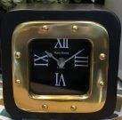 Clock, Black & Gold Square-Acc037c