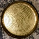 Display Tray, Gold Hammered -Acc437g