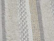 AR62-G&W Textured Rug w/fringe, 4 x 6