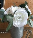 PL50f-Roses in Simple Tin vase