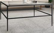 OT53e-Black Metal, Square, Coffee Table