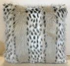 TC63c-Light Leopard, Faux Fur Toss Cushion