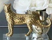 Decorative Leopard, Gold Metal-Acc96d