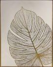 A143e-White & Gold, Palm Leaves