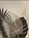 A143d-Black & Gold, Palm Leaves