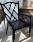 DK00-Black Lacquer, Bamboo Chippendale