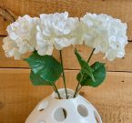 PLS00-Set of 3, White Hydrangea Stems