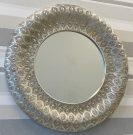 M04b- Silver Metal, Filigree Frame LARGE