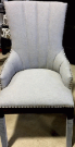 DC08a-Chair, Grey Flannel, Channel Back