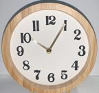 Clock, Round, Blonde Wood-Acc039f