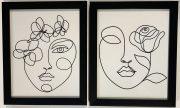 A124a-Pr. of B&W face sketches, sm