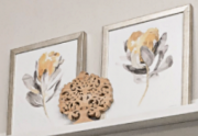 A52d-Pr. of Yellow & Charcoal Flowers
